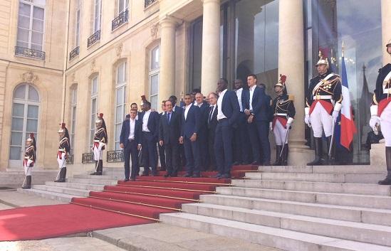 Франсуа Олланд поддержал сборную Франции