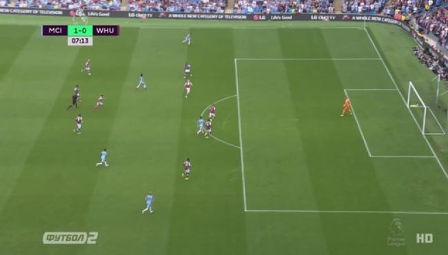 Фернандиньо вывел Манчестер Сити на первое место АПЛ: смотреть голы Вест Хэму