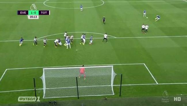 Эвертон и Тоттенхэм сыграли вничью: смотреть голы