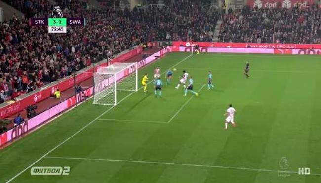 Бони не оставил Суонси шансов в игре со Сток Сити: смотреть голы