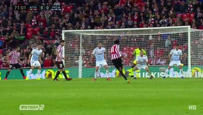 Пенальти решил судьбу матча Атлетика и Малаги: видео победного гола