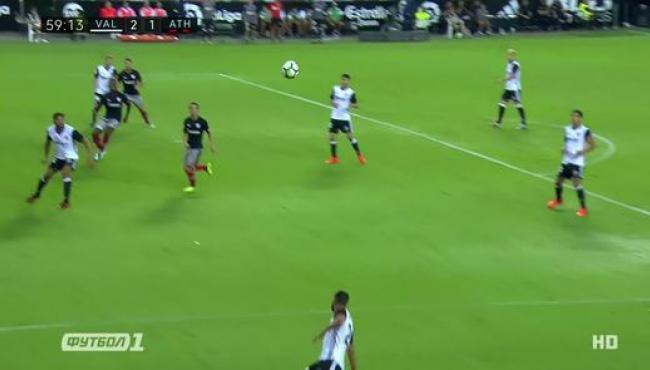 Валенсия обыграла Атлетик и опередила Атлетико: смотреть голы