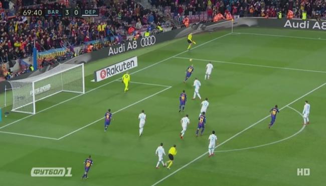 Барселона скромно громит Депортиво: смотреть дубли Суареса и Паулиньо