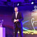 В Киеве презентовали Кубки Лиги чемпионов и логотипы финалов турнира